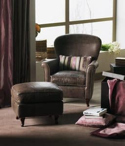 Papier, Armchair with capitonn� removable upholstery