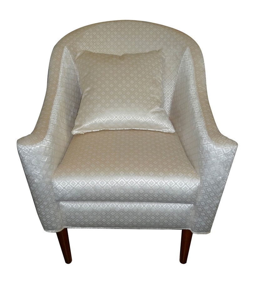 Pompidou CH.0201, Fully upholstered armchair, new baroque style