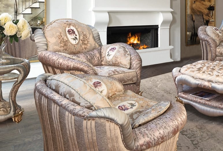 Prodige armchair, Armchair with a classic taste and refined combinations