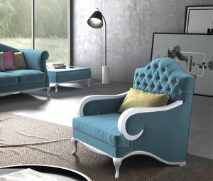 Smeraldo Art. 5031, Contemporary armchair, tufted back