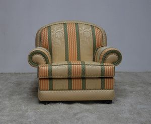 Toledo armchair, Outlet armchair, with a classic design