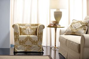 Velasquez, Armchair with a traditionally rational, sober and elegant design