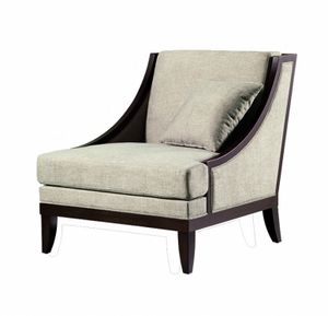 Vendome poltrona, Armchair with low backrest, for sitting room