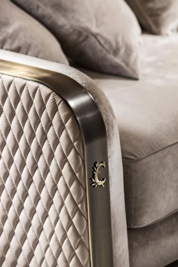 Voyage armchair, Vintage armchair, in metal and fabric
