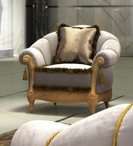 Zaffiro Art. 8231, Classic carved armchair