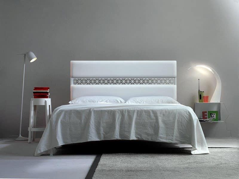 Ajour, Double bed, upholstered headboard, soft line