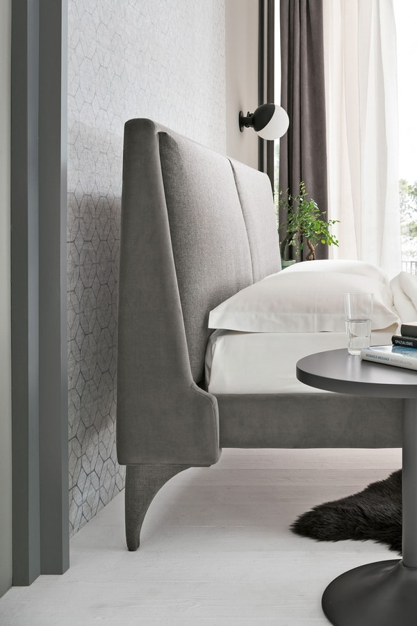 ANGEL BD460, Padded bed with double cushion on the headboard