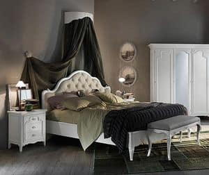 Art. AX714, Bed with quilted padding, with an handcrafted design