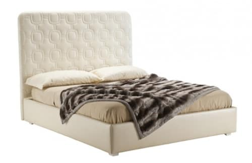 Art. VL734, Bed with storage unit, padded, classic style