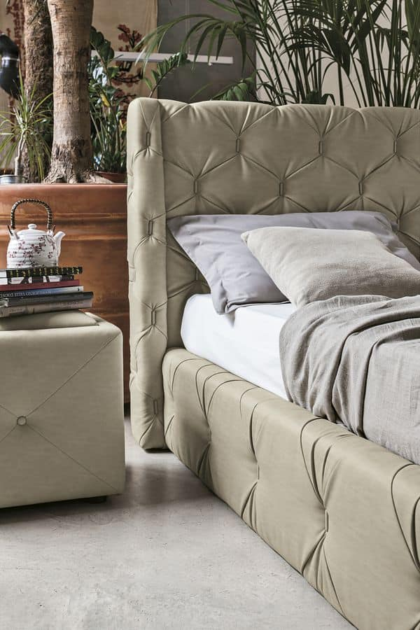 CAPRI BD450, Fully upholstered bed with capitonnè