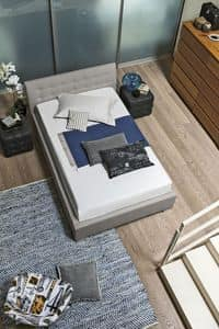 CHAMONIX SD427, Queen-size bed with soft upholstered headboard