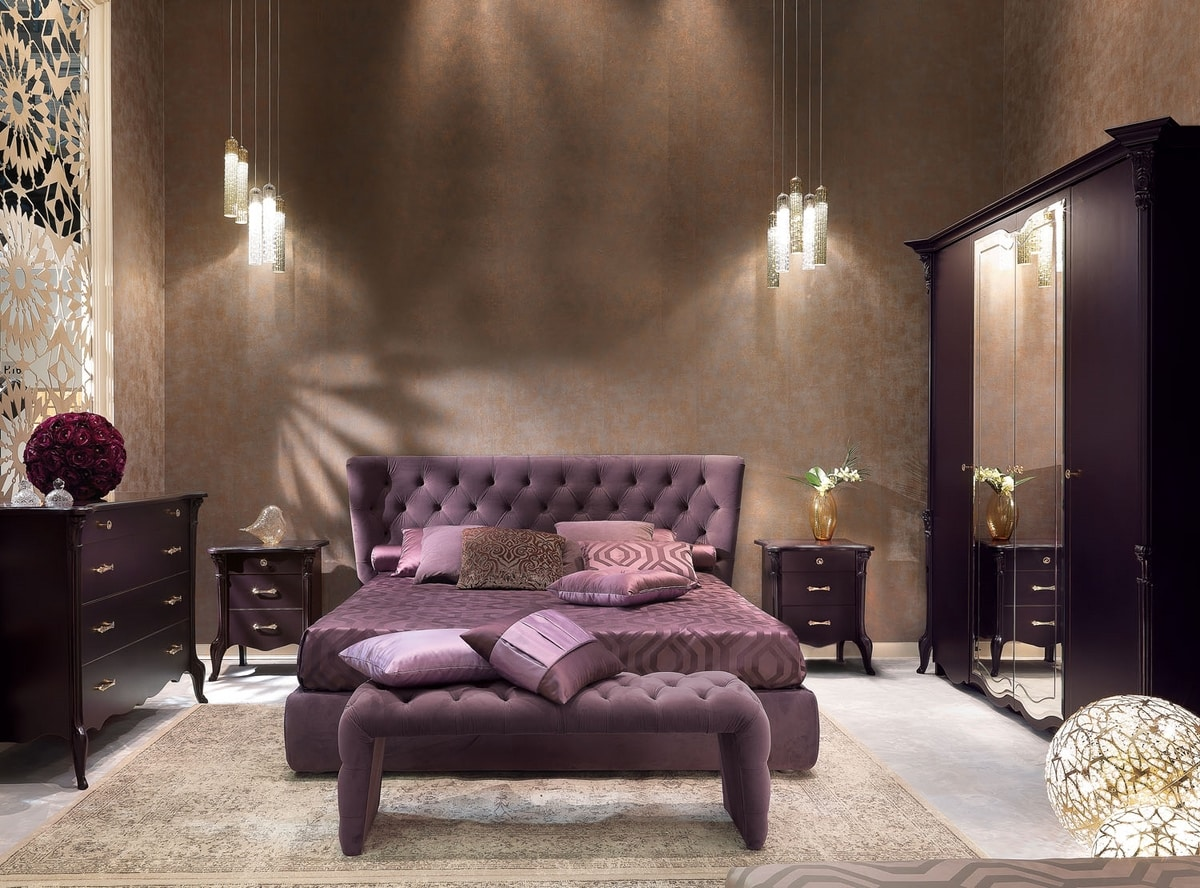 City Art. 5650_5653, Bed with tufted headboard