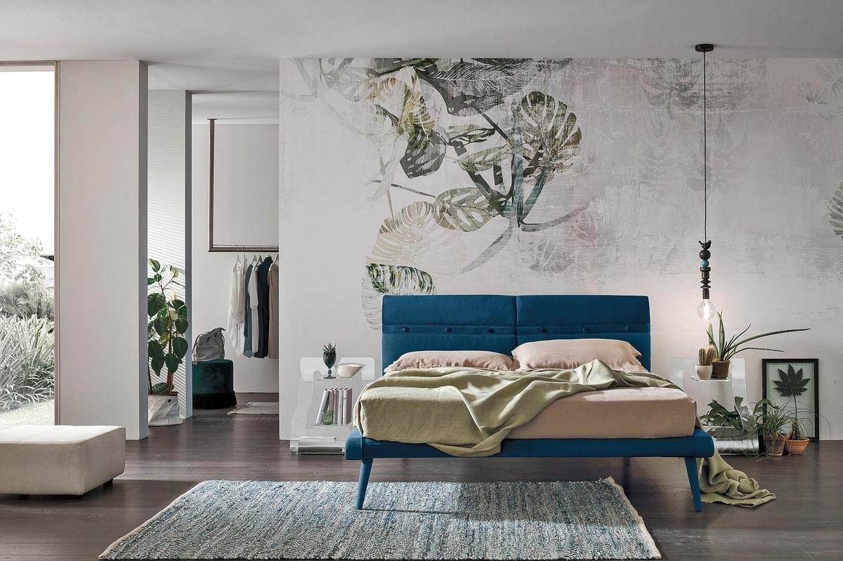 CORFÙ KB463, Upholstered bed, king size
