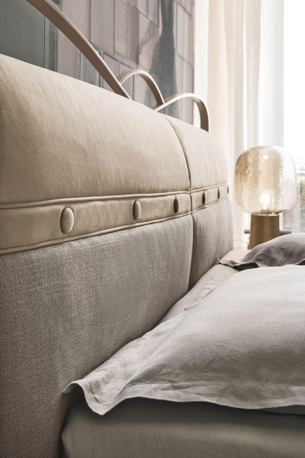 CORFÙ PLUS BD458, Elegant upholstered bed