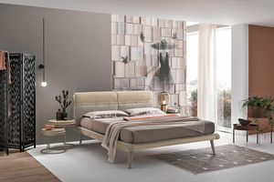 CORF� PLUS KB458, Upholstered bed, in fabric and microfibre