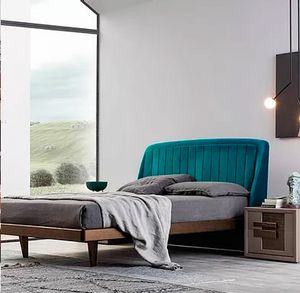Cover, Bed with enveloping headboard