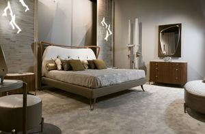CRONO bed GEA Collection, Contemporary padded bed