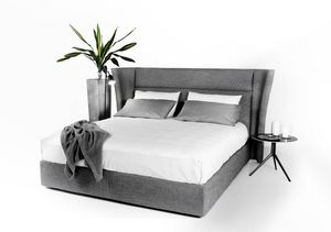 David, Modern bed, with wrap-around headboard