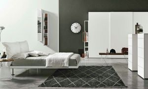 Dream, Bed with headboard made up of two soft cushions