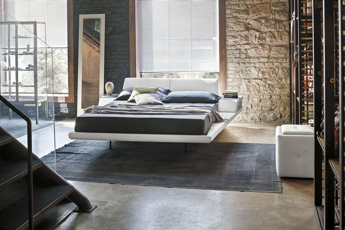 ELBA KB444, King-size bed with reclining cushions and built-in night tables