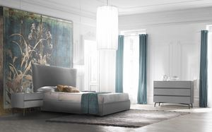 Eos Art. E0001_E0006, Contemporary upholstered bed