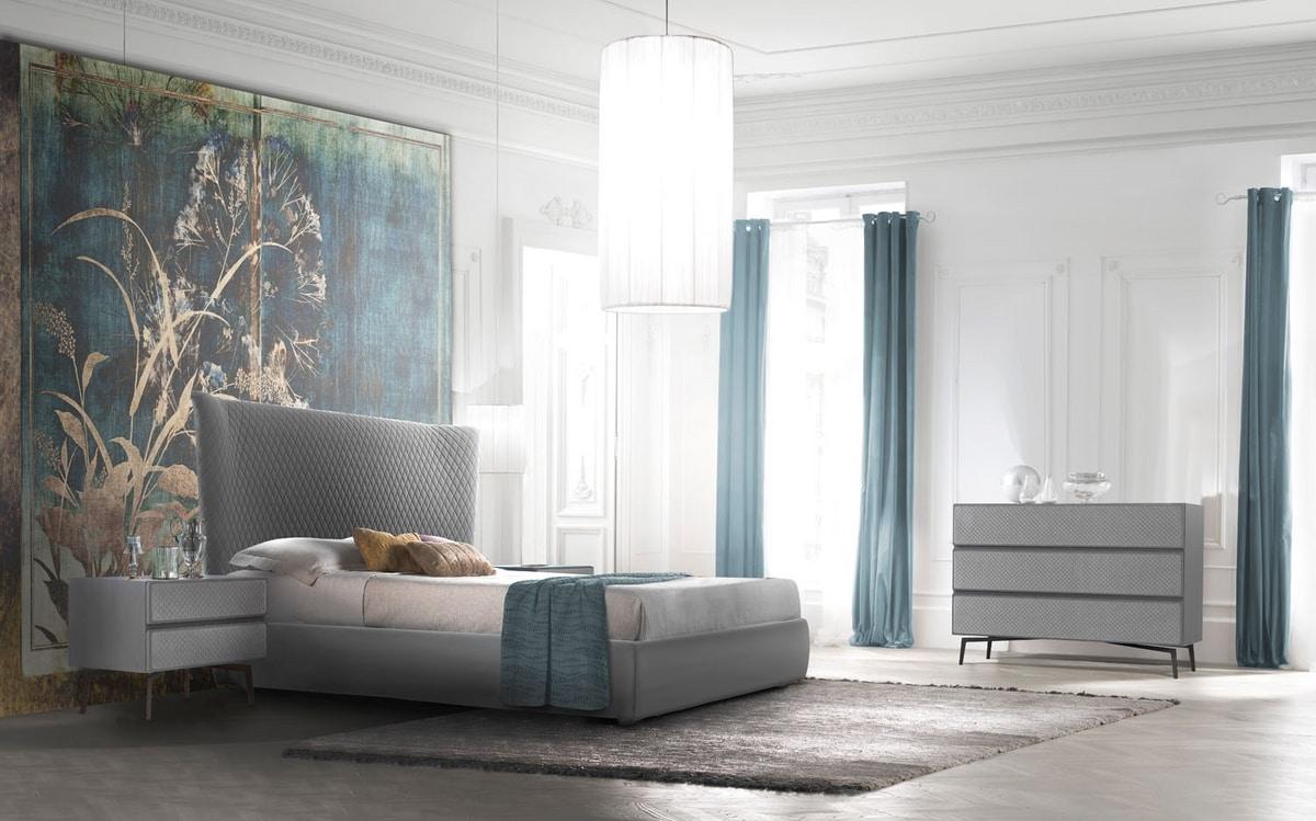 Eos Art. E0001_E0006, Contemporary upholstered bed