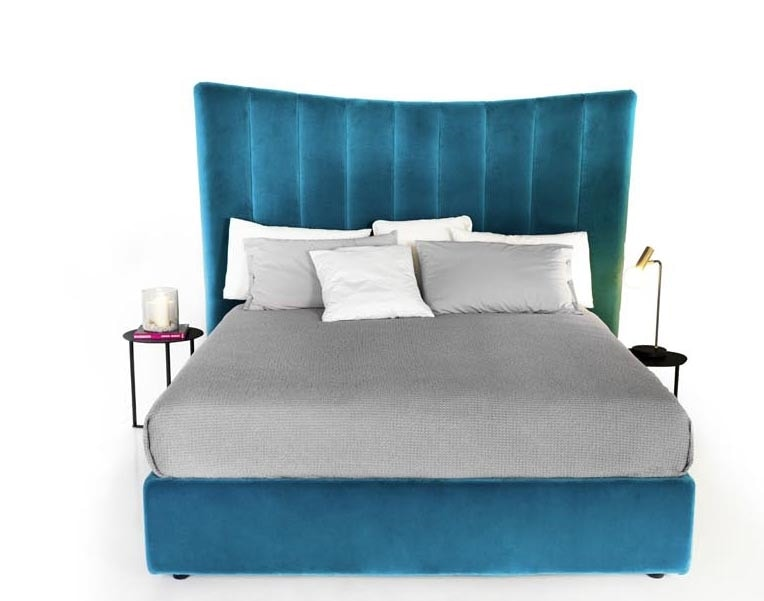 Freddie, Upholstered bed, with high headboard