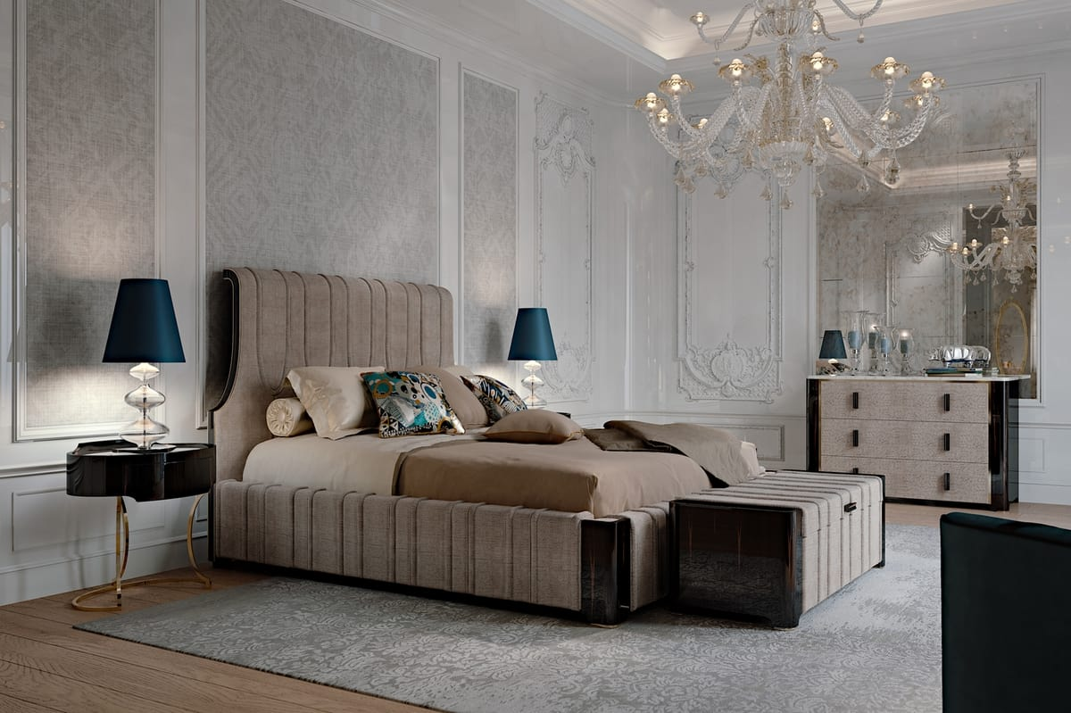 Hotel de Ville Bed, Luxury bed with padded structure