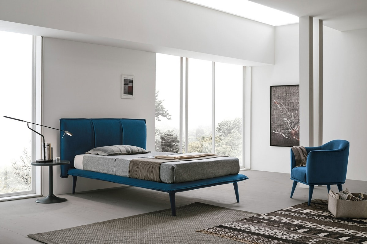 ITACA SD462, Upholstered bed with removable cover