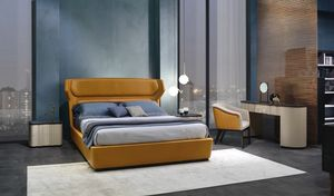 LE30 Mistral bed, Bed characterized by curved and anatomic headboard