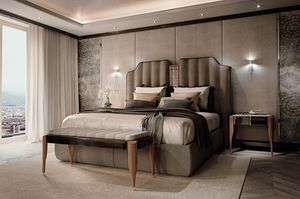 LEXINGTON AVENUE Bed, Luxury bed with upholstered headboard