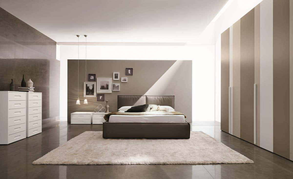 Manhattan, Modern double bed for hotels and bedrooms