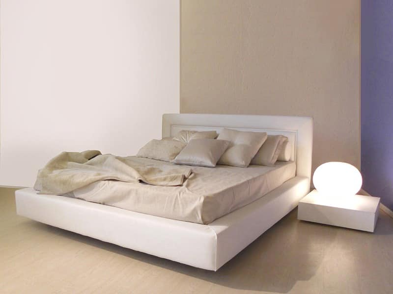 Simple Style Modern Bed With Wide Frame Idfdesign