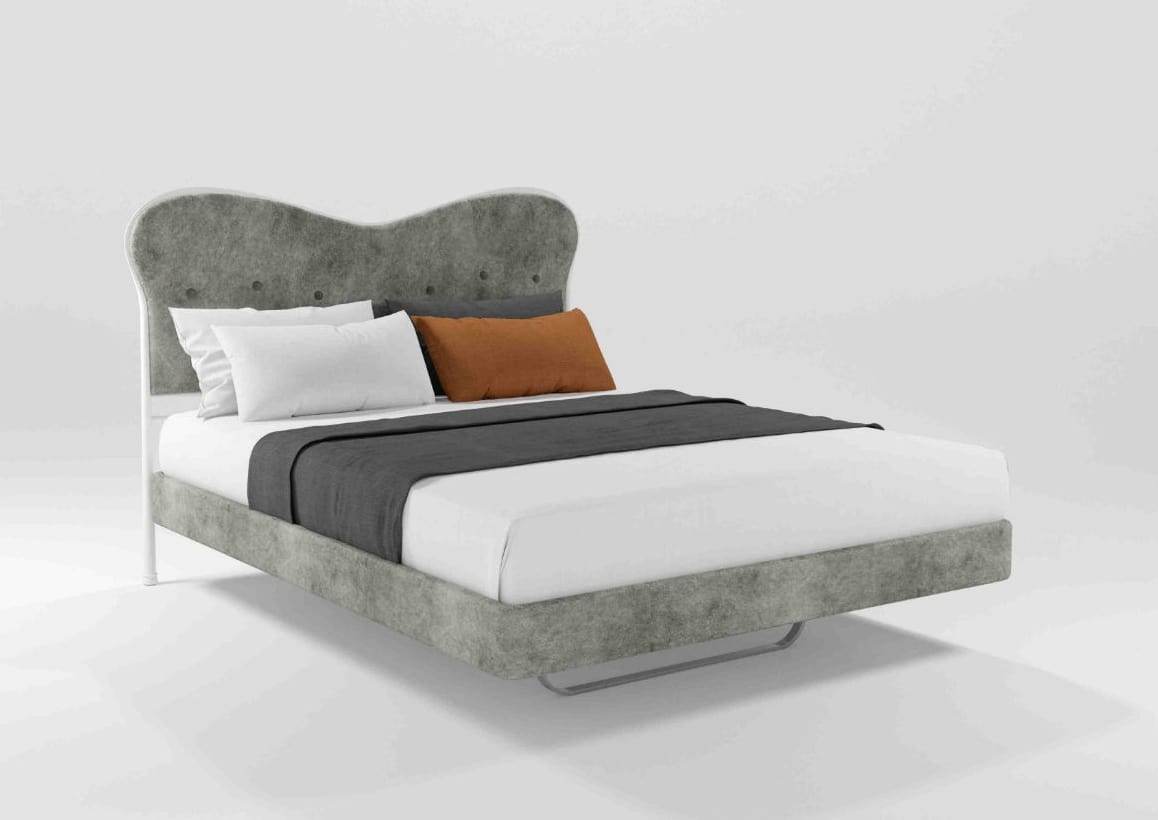 Monroe, Classic upholstered double bed ideal for hotel rooms