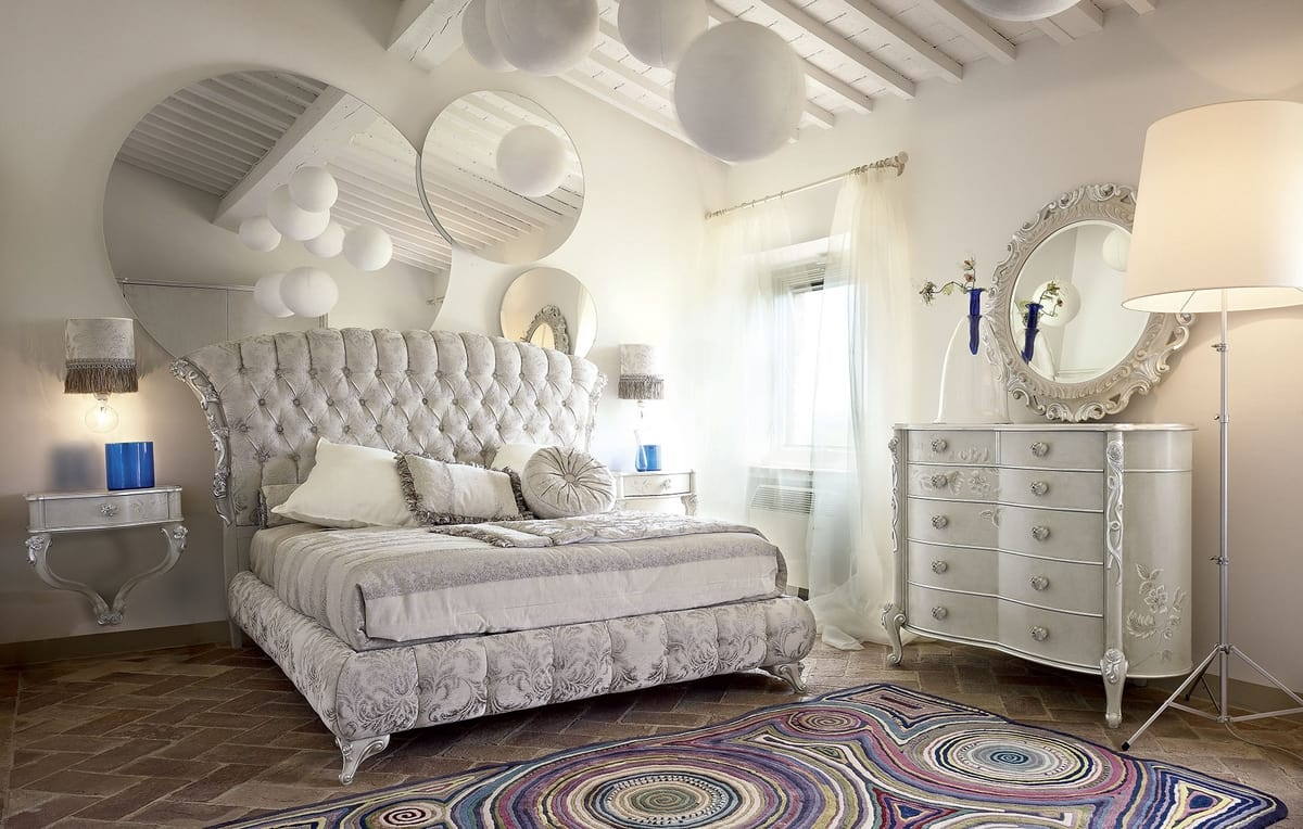 Narciso bed, Upholstered bed, blending modernity and tradition
