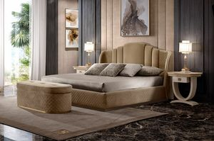 Oliver Art. OL70, Bed upholstered in quilted fabric