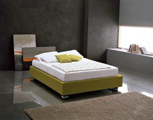 OLIVIERO, Upholstered bed with container