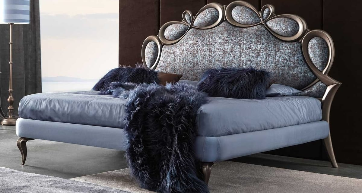 Papillon Art. 941, Upholstered bed with a charming silhouette