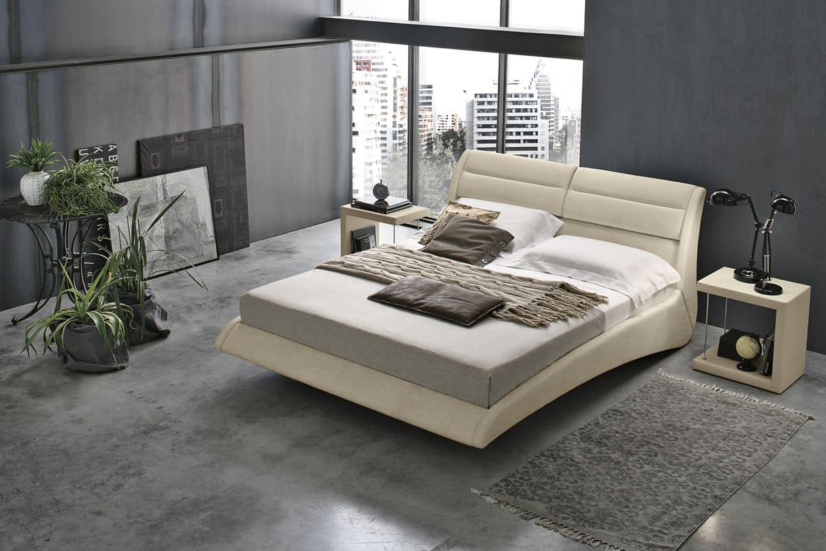 PONZA BD449, Double bed with reclining cushions
