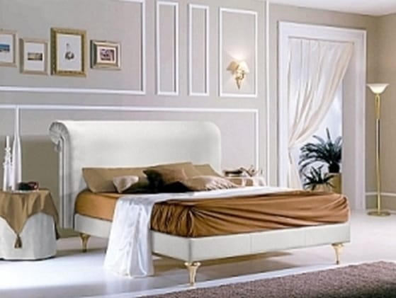 PRINCIPE bed, Bed with upholstered headboard and structure
