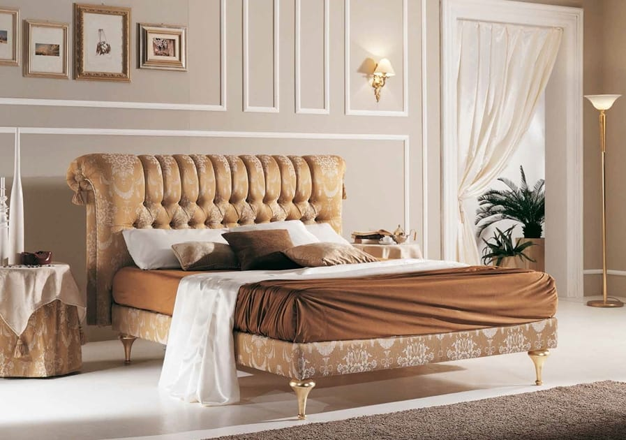 PRINCIPE capitonné bed, Classic bed with buttoned headboard