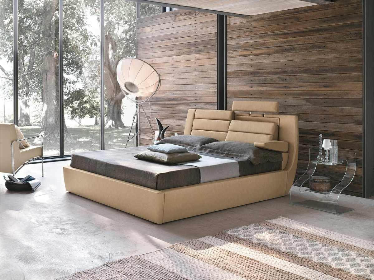 ROMA BD441, Double bed with electronic control system