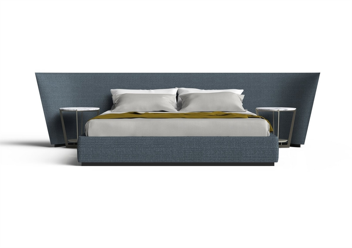 Semira, Bed with large padded headboard