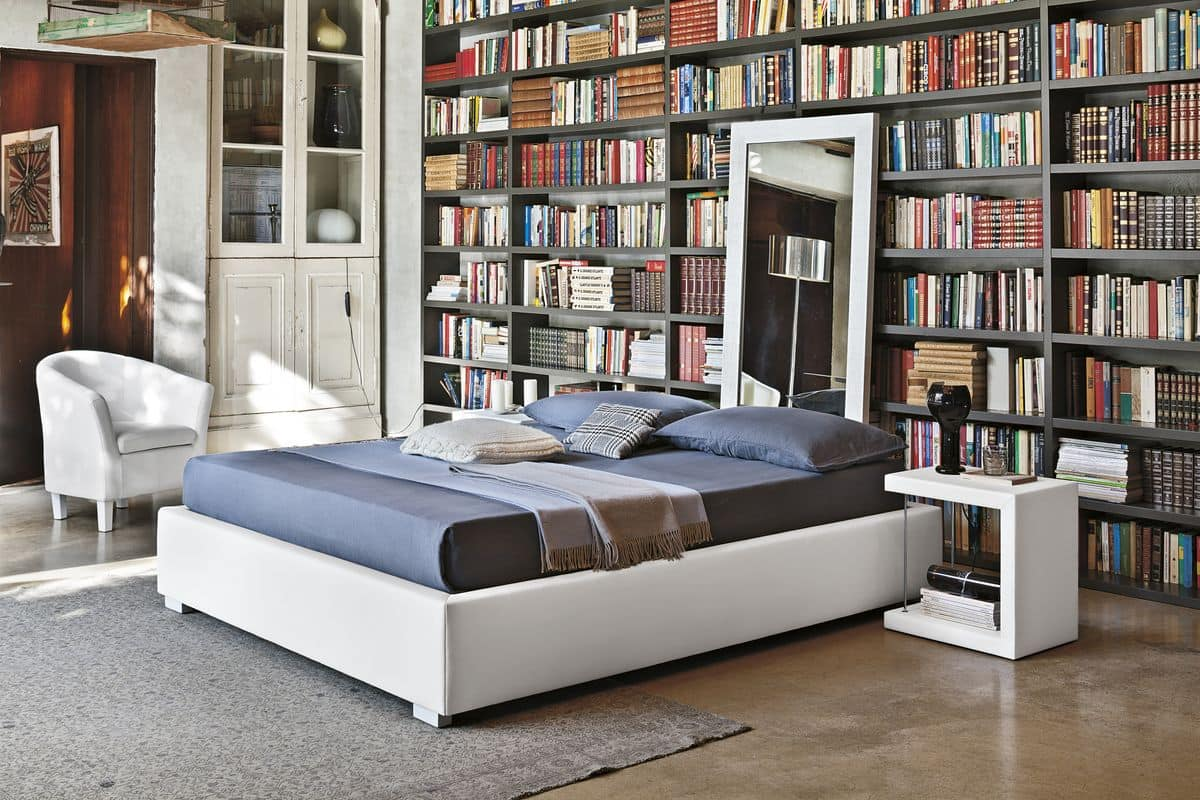 SOMMIER BD451, Upholstered double bed at 2 ideal for modern bedrooms