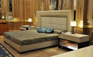 Vip bed, Bed with upholstered headboard and structure