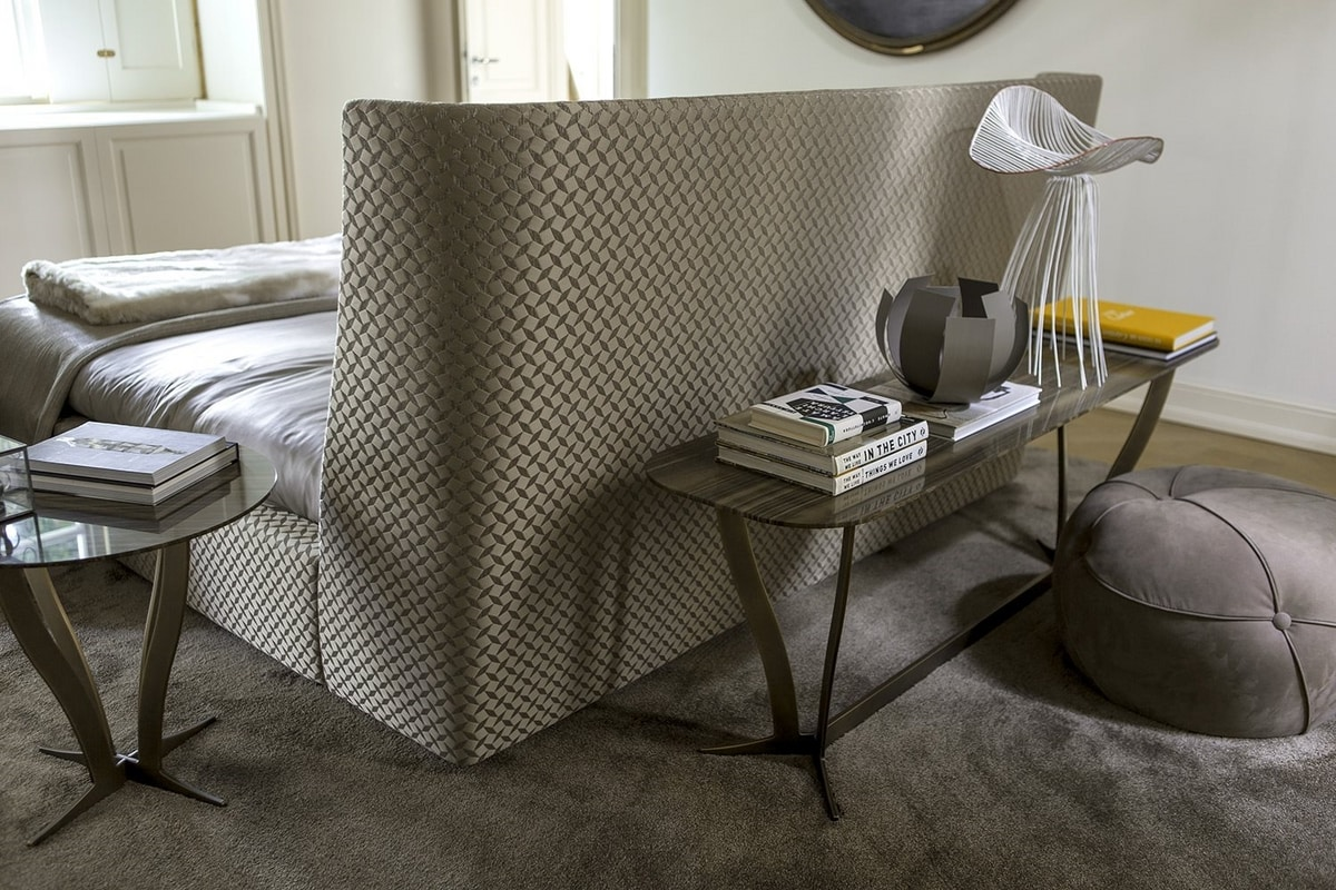 Vivien, Upholstered bed with high headboard