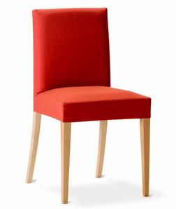 243 Relax, Dining chair with removable upholstery