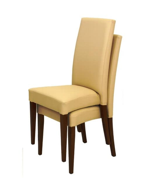 300 stackable, Modern chair with wooden structure, for waiting room