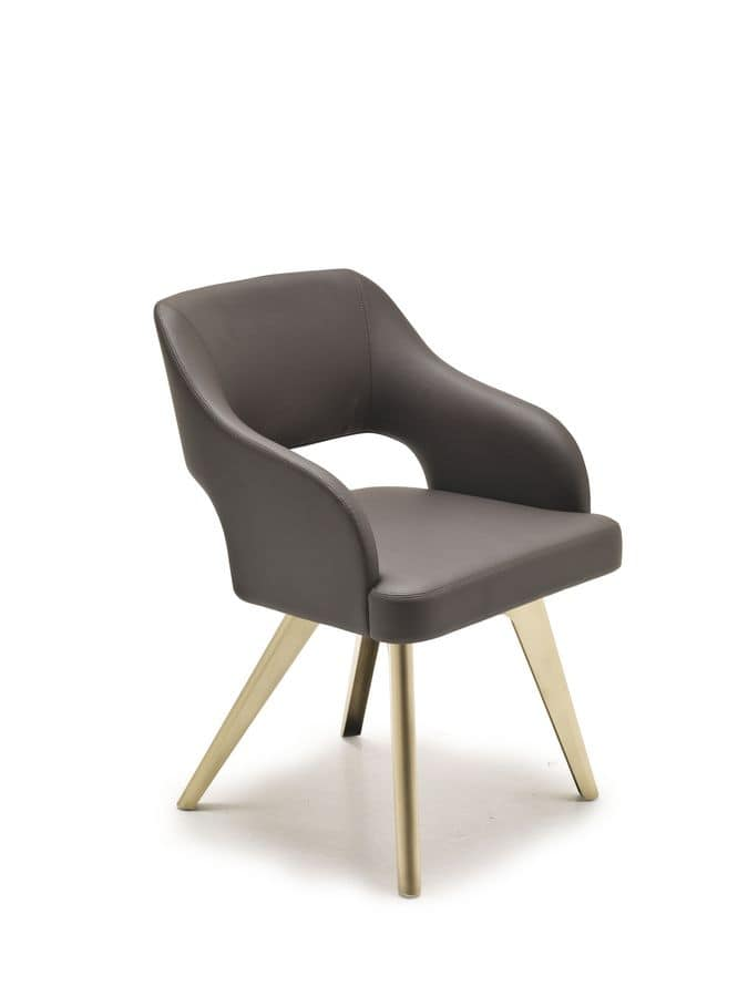 Adria, Modern sitting with padded seat, iron legs