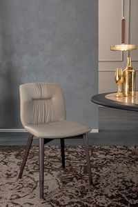 ALEXIA, Chair with wooden or metal structure